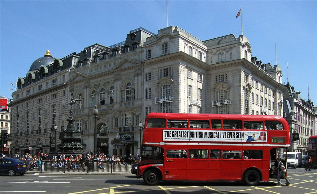 Anglie - Londýn - Piccadilly Circus (Wiki)