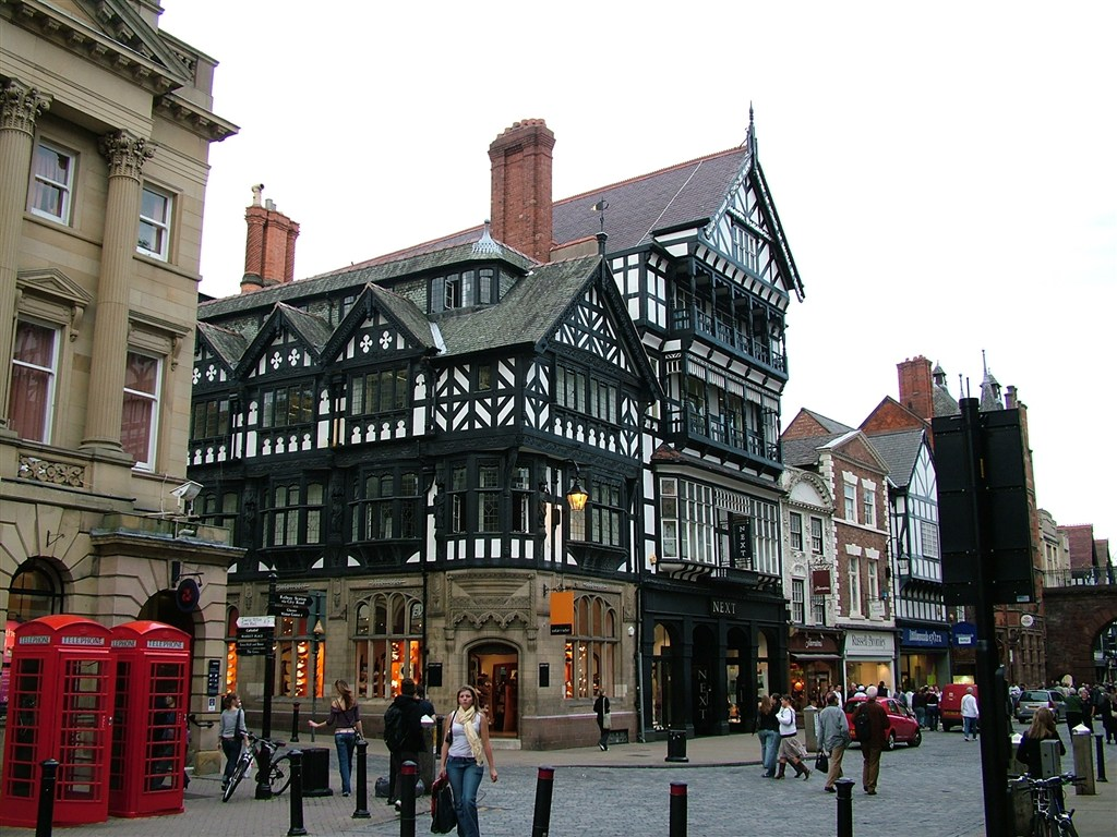Anglie - Chester - Eastgate Street
